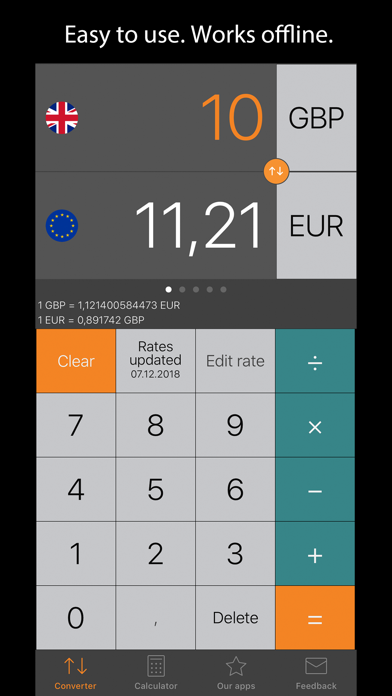 Currency Converter Plus ScreenShot0