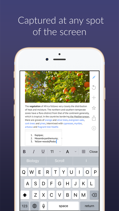 Outline –your digital notebook Screenshots