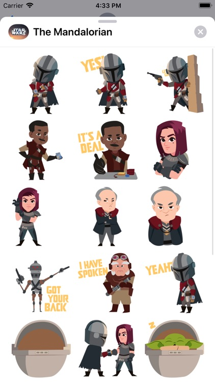 The Mandalorian Stickers screenshot-3