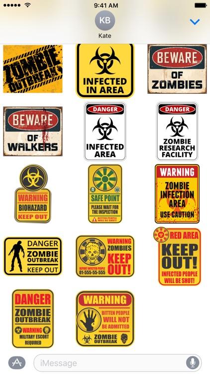 Zombie Sticker Pack screenshot-3