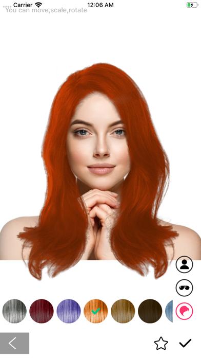 Hairstryle try on-Hair Salon screenshot #4