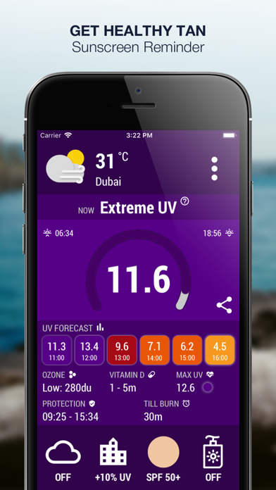 Screenshot #3 pour UV Index Now - UVI Mate