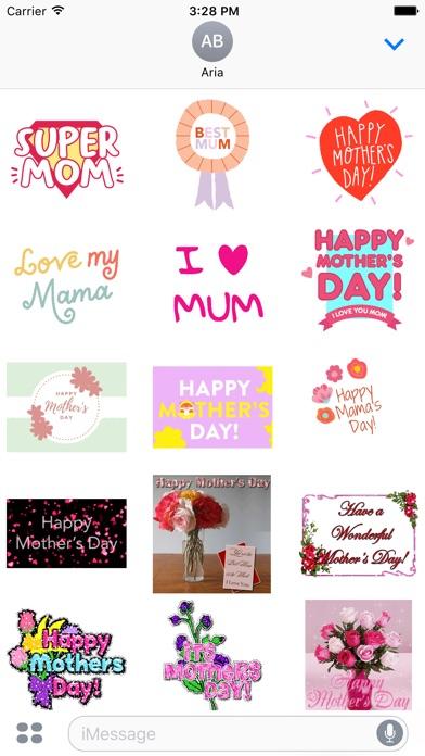 I Love Mom Animated Sticker screenshot 2