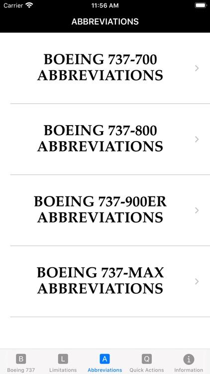 B737 Limitations Quick Actions screenshot-3