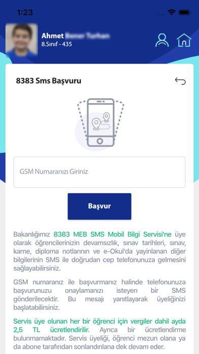MEB E-OKUL VBS iphone ekran görüntüleri