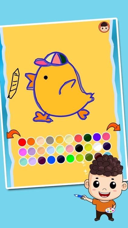 乐乐学画画-画画游戏涂鸦涂色画画板