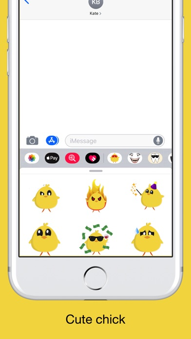 Chicky chick - chicken emoji screenshot 2