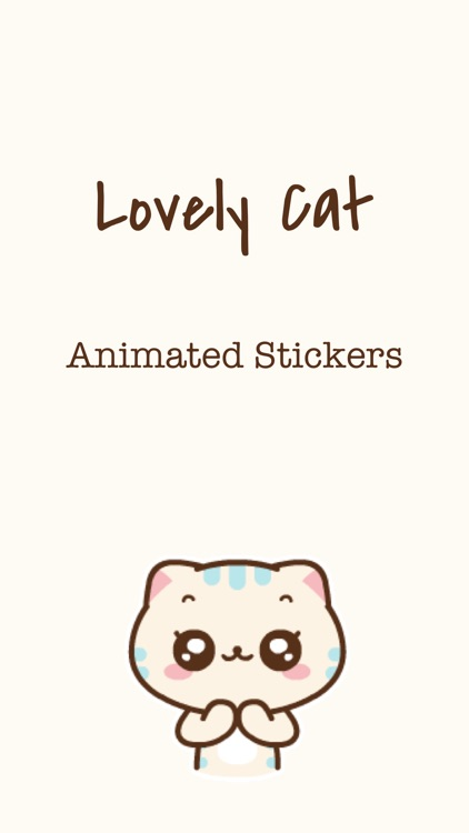 Lovey Cat Animated Stickers