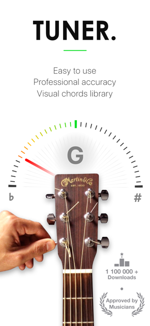 guitar tuner pro bass ukulele on the app store. Black Bedroom Furniture Sets. Home Design Ideas