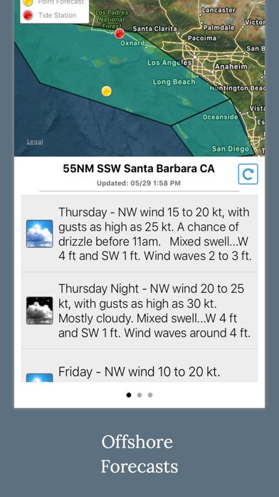 NOAA 5-day Marine Forecast Screenshot