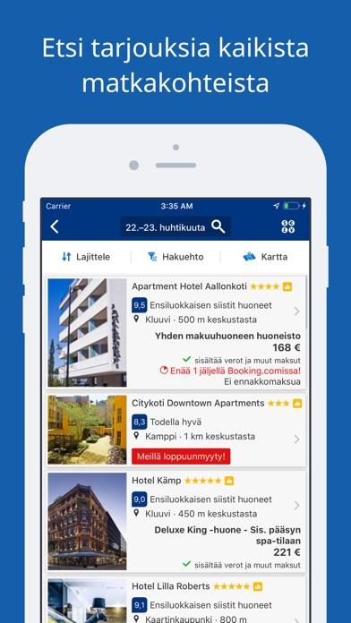 Screenshot for Booking.com – Matkatarjoukset in Finland App Store