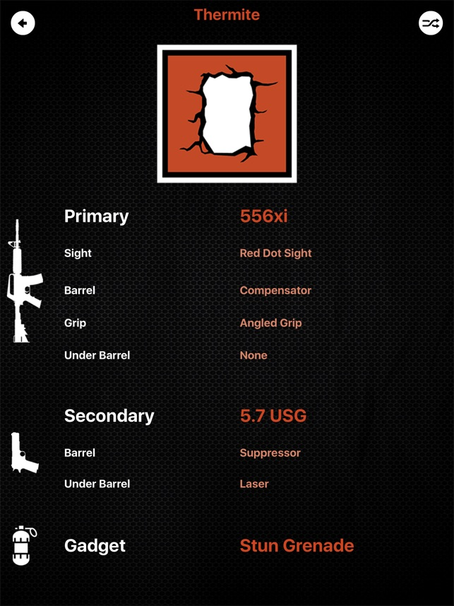 R6S Loadout Randomizer on the App Store