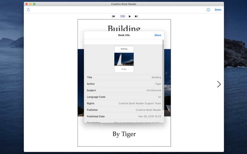 Creative Book Reader for Mac