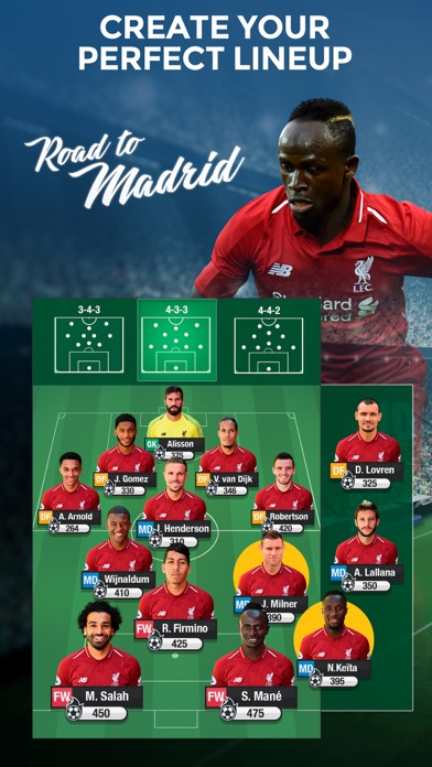 LIVERPOOL FC FANTASY MANAGER screenshot one