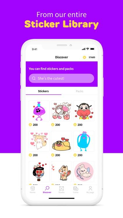 Stickers for iMessage: mojitok screenshot-3