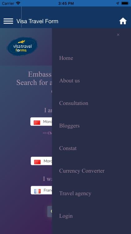 VISA travel forms and tools screenshot-3