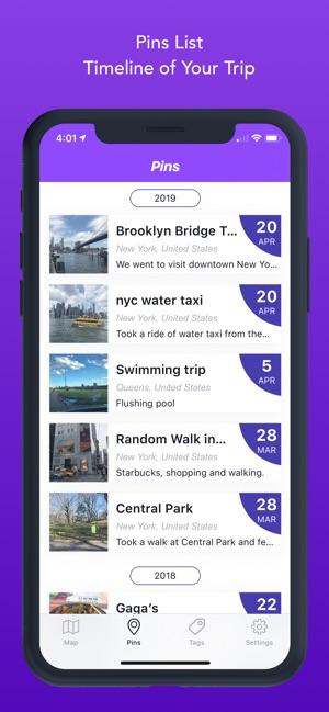 Everpin - Private Map Journal Screenshot