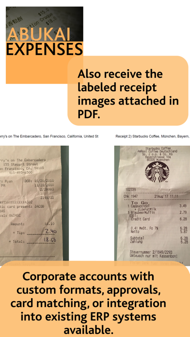 ABUKAI Expense Reports Receipt Screenshot