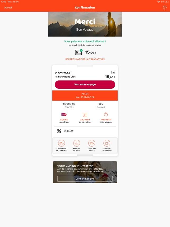 Voyage Sncf Calendrier.Oui Sncf Train Et Bus Dans L App Store