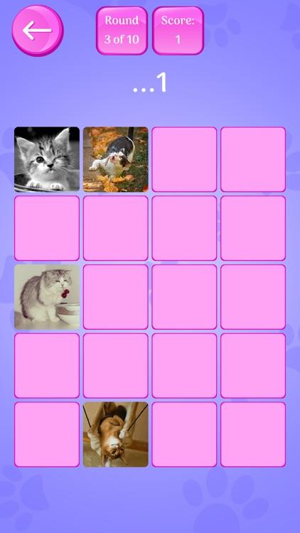 Cute Cats Memory Match Game screenshot-3