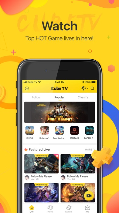 Cube TV – Live Games Community app image
