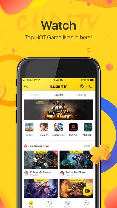Cube TV – Live Games Community screenshot 1