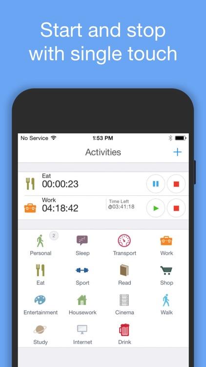 aTimeLogger Personal Tracker screenshot-0