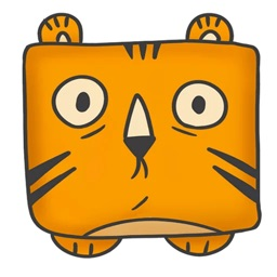 Square Tiger Sticker Pack