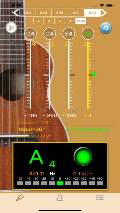 UkuleleTuner - Tuner for Uke screenshot one