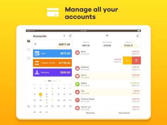 Checkbook - Spending, Income, Cashflow and Account Tracker screenshot