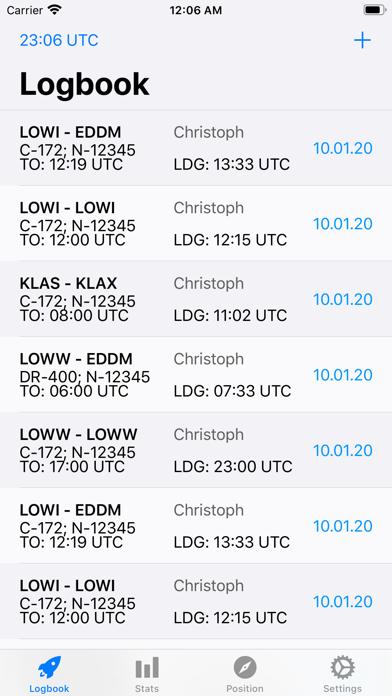Screenshot #1 pour SkyPilot 2 - Pilot Logbook