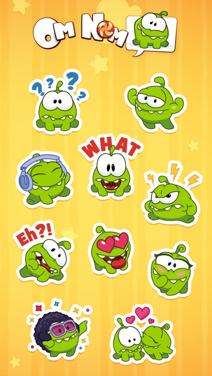 Om Nom Stickers screenshot-3
