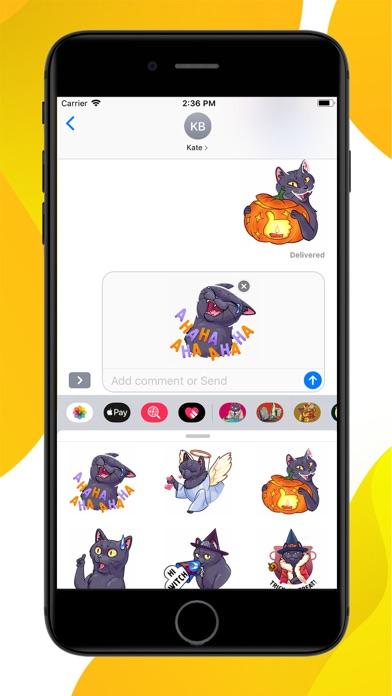 Spooky Cat Halloween Stickers screenshot 3
