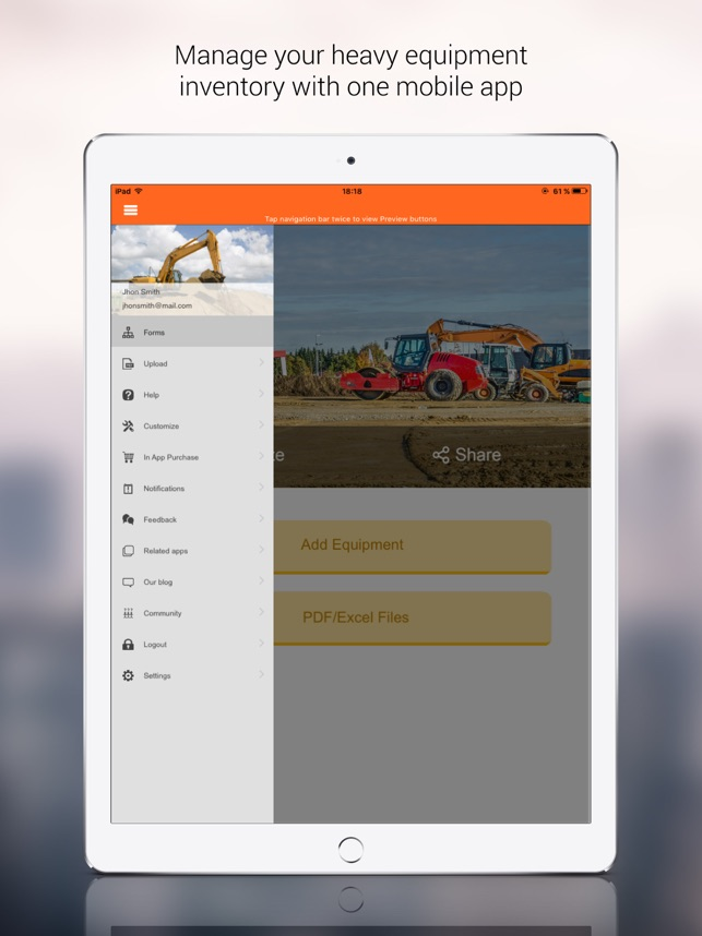 Heavy Equipment Inventory App on the App Store
