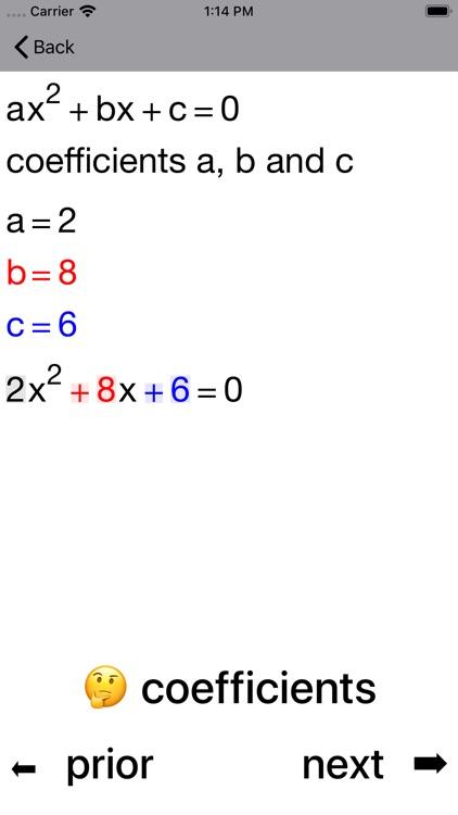 Quadratic Equations screenshot-8