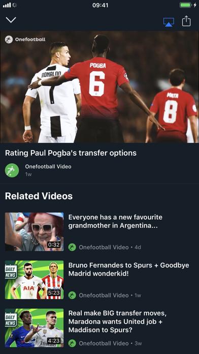 Onefootball review screenshots