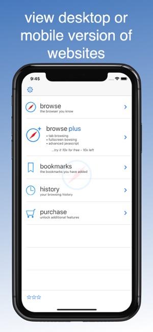 Desktop Browser on the App Store