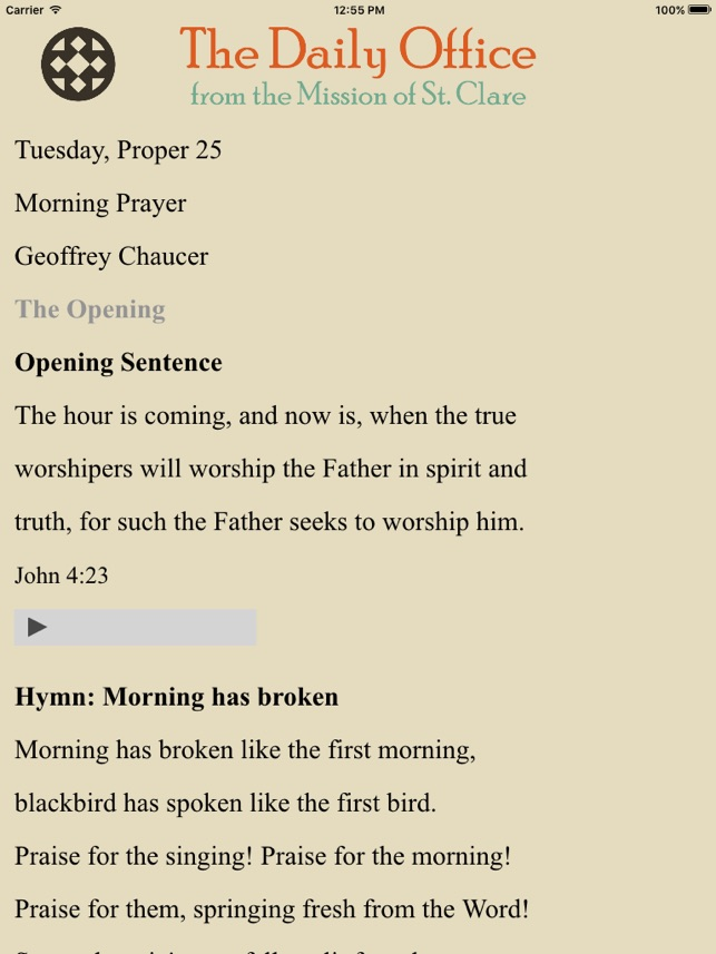 Prayer - Mission St  Clare on the App Store