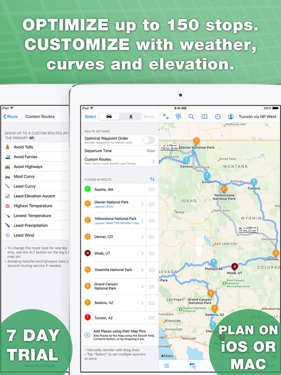 inRoute - Intelligent Route and Road Trip Planner screenshot