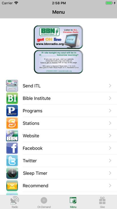 BBN - Christian Radio screenshot four