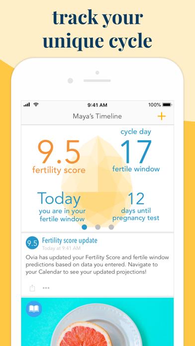 Screenshot #1 pour Ovia Fertility & Cycle Tracker