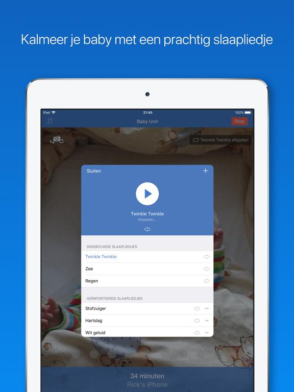 Babyfoon 3G iPad app afbeelding 3