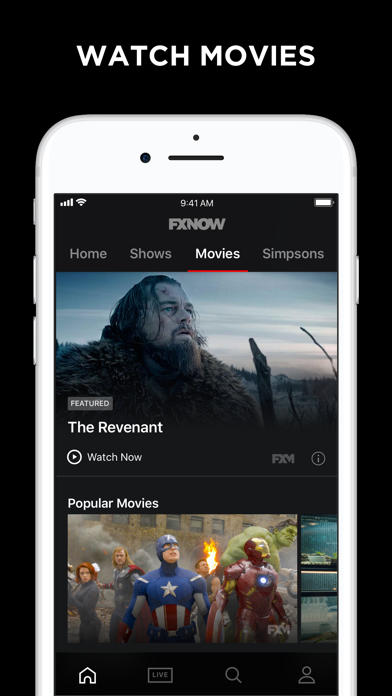 FXNOW: Movies, Shows & Live TV by Disney (iOS, United States
