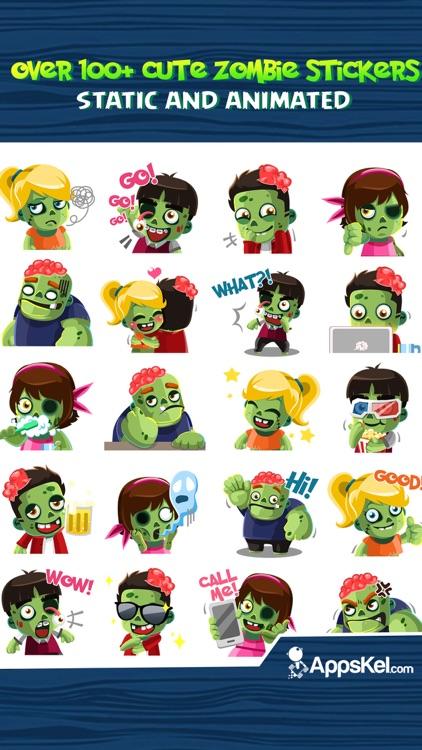 Zombies Emoji Stickers App