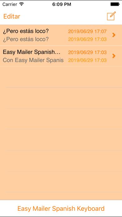 Easy Mailer Spanish Keyboardのおすすめ画像2