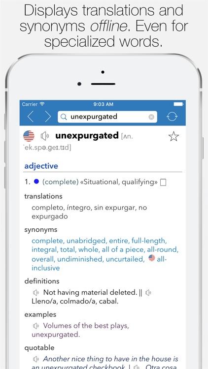 English Spanish Dictionary screenshot-0