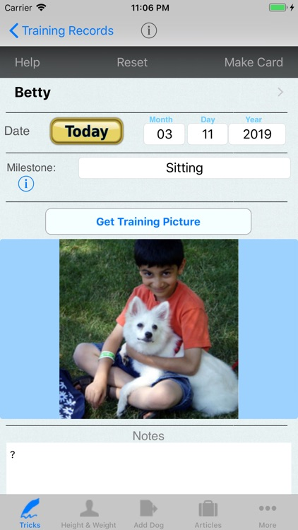 Dog Diary for Tracking Pets
