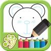益智涂鸦涂色画画板-教育画画游戏