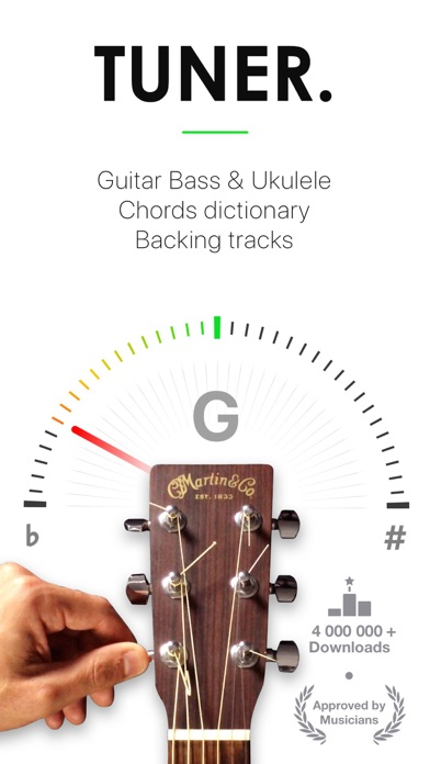 Guitar Tuner Pro, Bass,Ukulele Screenshot