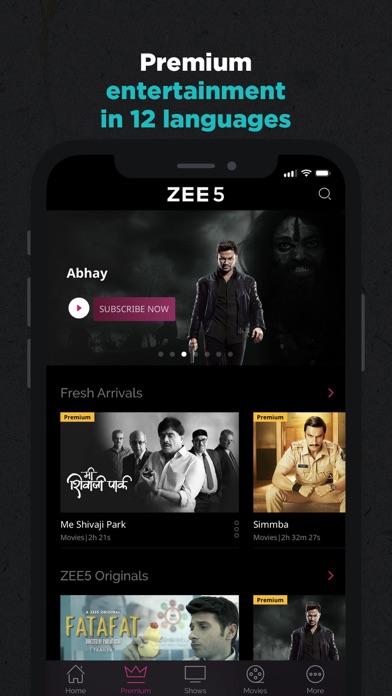 ZEE5 - Shows Live TV & Movies PC için - Bilgisayara Indir - Windows